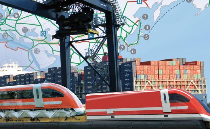 Transrapidsysteme, Containerschiffe, Neue Seidenstraße