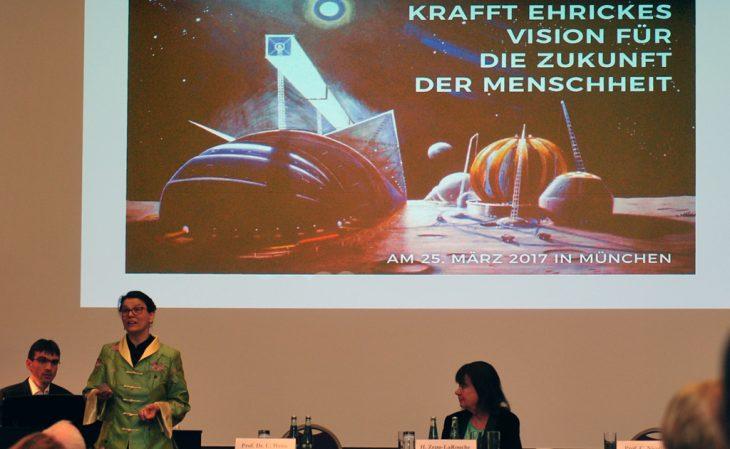 Musikalische Einlage bei der Krafft-Ehricke-Konferenz